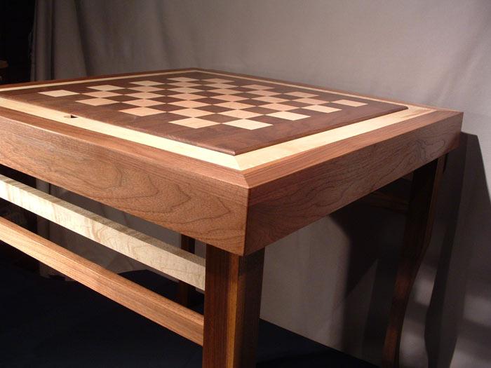 Custom Walnut Chess Table