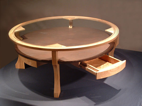 Round Coffee Table with stone