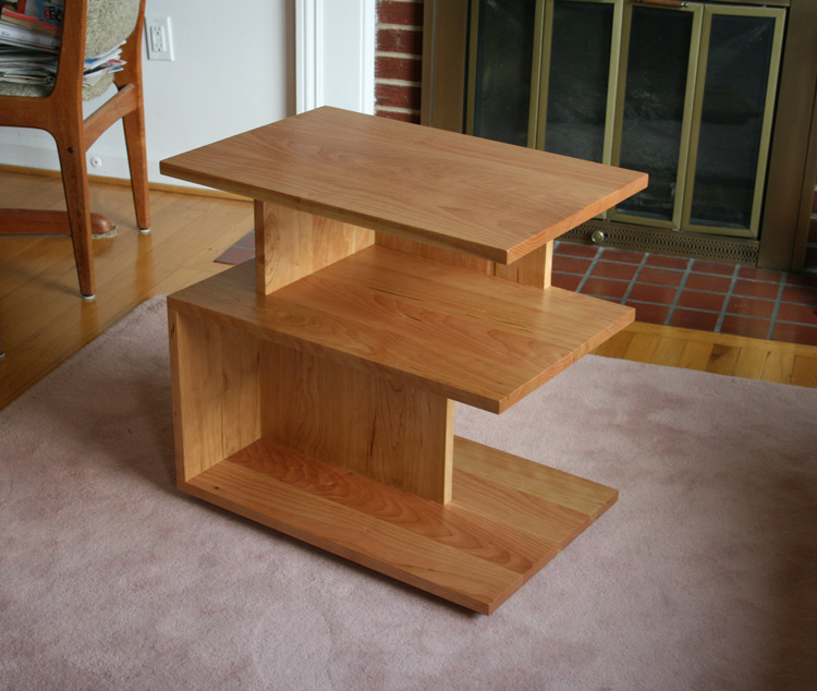 Custom Natural Cherry Side Table - Natural cherry side table