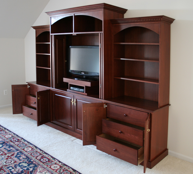 Custom bedroom built in entertainment center for Bedroom entertainment center